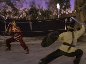 two oponents face off in Legendary Weapons of China movie