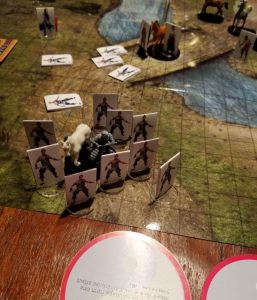 Tabletop gaming with paper minis.
